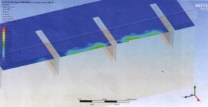 randspanningen in beton als gevolg van verticale belasting, berekend met EEM