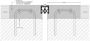 Concept 1.5: Enkelvoudige voegovergang zonder randprofielen (ACME-profiel)