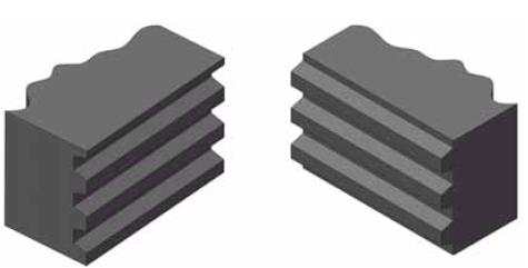 Stootvoegen tussen twee matten
